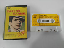 CARLOS GARDEL EXITOS CINTA TAPE CASSETTE ARK SPANISH ED 1981 PAPER LABLES