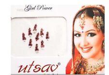 Bindi bijou de peau front Bollywood strass bordeaux dot tilak FS12FJ 1149
