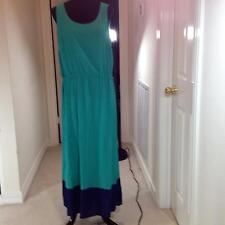 IN THE MIX Plus-Size 1X Sleeveless Scoop Neck Dress in Kelly Green w/ Navy Hem