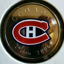 2006 - 2007 Canada Montreal Canadiens in UNC Mint State NHL Canadians Quarter