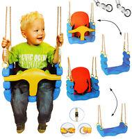 mitwachsende - Babyschaukel / Gitterschaukel mit Gurt - Kinderschaukel ab 1,5 Ja