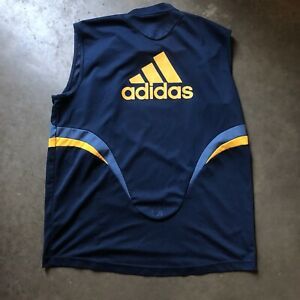 Men's Vintage Adidas LA Los Angeles Galaxy Sleeveless Jersey Training Tank Sz XL
