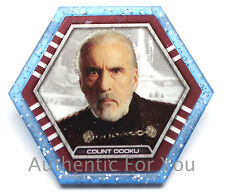 2015 Star Wars Topps Galactic Connexions Trading Disc COUNT DUKU Starfield Blue
