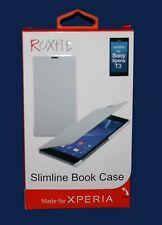 Libro Roxfit Slimline Estuche para Sony Xperia T3-Blanco Carbón *** NUEVO ***