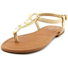 Sandalias y chanclas de mujer planos de color principal beige sintético
