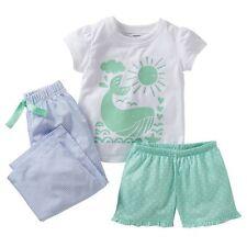 Carters Whale 3 Piece Pajama Set 24M NWT Tee T-Shirt Shorts Pants PJs Sleepwear