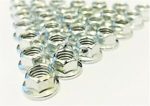White Zinc M8 Silver K Nuts for Kart Wheels 10mm Spanner Size