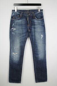 Antony Morato Uomo (Eu) 46 O ~ Grande Strappato Sbiadito Slim Fit Jeans 38378 _