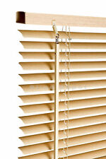 150cm Beech / Natural Wood Effect PVC Venetian Blinds Available in 10 Sizes and