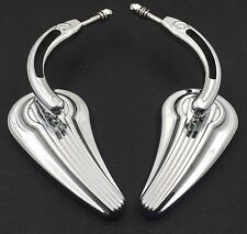 Chrome Raindrop Side Mirrors For Street 500 750 Low Rider SuperLow Iron 883 1200