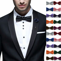New Bow Tie Classic Fashion Solid Mens Adjustable Tuxedo Bowtie Wedding Necktie