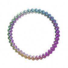 Ombre Rainbow Colors Blue Green Pink Purple Gold Stretch Metal Steel Bracelet