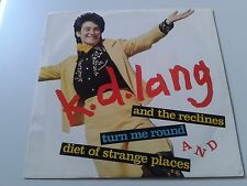 """kd lang & the reclines: Turn Me Round 7"""" Vinyl PROMO 1987 Double-A Side 7-28338"""