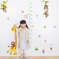 Giraffe Height Chart Measure Wall Sticker Decal for Kids Baby Room Removab C ee