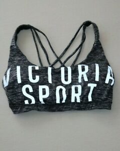 Victoria Secret VICTORIA SPORT Reflective Logo Sports Bra Sz Medium