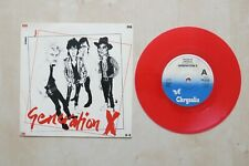 """GENERATION X Fridays Angels UK red vinyl 7"""" in picture sleeve Chrysalis 1979 Ex+"""