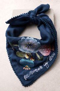 Stunning! Rahi Cali Summer of Love Navy Blue Embroidered Bandana - Lulus