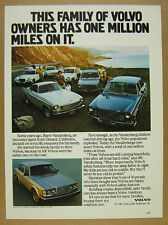 1979 Volvo 264 Sedan photo Family of Owners 1800 coupe wagon vintage print Ad