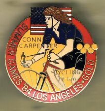 OLYMPIC GAMES LOS ANGELES '84 - CONNIE CARPENTER CYCLING GOLD MEDAL BADGE