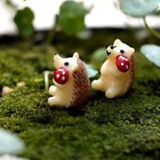 10pcs Miniature Micro Landscape Mini Resin Animals Mushroom Hedgehog Decor