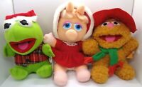 McDonald's Muppet Babies Christmas Plush Set Of 3 Kermit Miss Piggy Fozzie NWT