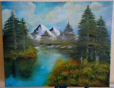 Landschaft im Gebirge, Öl auf Leinwand, 50 cm x 40 cm (B x H)