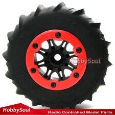 2pc RC 2.2 Paddle Tire Snow Sand Storm tyre & RC Crawler 2.2 Beadlock Wheel Rims