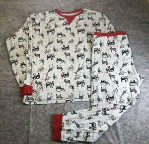 Wondershop Men's 2 pc Christmas Pajamas 2XL Gray Zoo Animals Long Johns