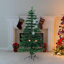 Árbol de Navidad con Luces LED Árbol Artificial 150cm Hoja Verde