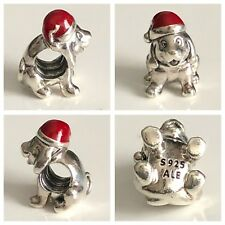 PANDORA CHRISTMAS PUPPY CHARM REF 79769EN39 S925 ALE
