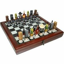 Jack Daniel's ® JD Chess Set with Hand Painted Pieces and FREE Shipping