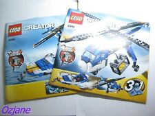 LEGO 4995 CREATOR INSTRUCTION MANUAL BOOK ONLY X2 CARGO COPTER AIRPORT