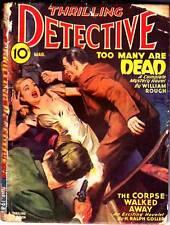 Pulp THRILLING DETECTIVE March 1946, William Rough, Hal K. Wells, H Ralph Goller