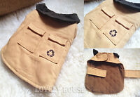 VINTAGE Warm Cosy Pet Clothes Dogs Cats Coat Jumper Vest Jacket Yellow XS-XL