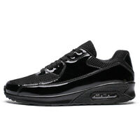 Fashion Men's Air Cushion Sneakers Breathable Casual Running Walking Shoes Black