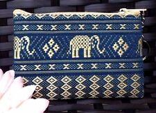 Purse Thai Vintage Silk Gift Bag Coins Keychain Souvenir Handmade Handbag Zipper
