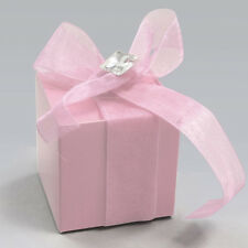 Favor Cube Boxes Kit with Rhinestone, 2-Inch, 12-Piece