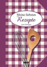 Rezeptbuch Meine liebsten Rezepte zum Eintragen Backbuch Kochbuch Rezeptebuch