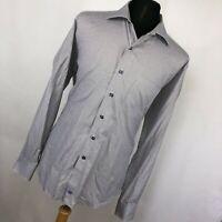 David Donahue XL Shirt Tan Blue Checkered Button Down Front Classic Mens L/S W2