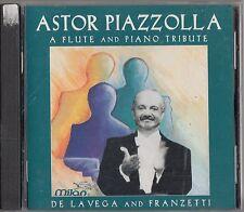 ASTOR PIAZZOLLA - A Flute And Piano Tribute - CD -De La Vega & Franzetti RARE
