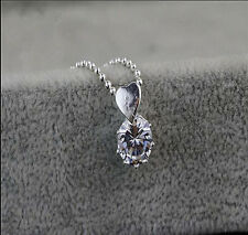 Wholesale Jewelry 925 Sterling Silver Crystal Heart Pendants Necklaces