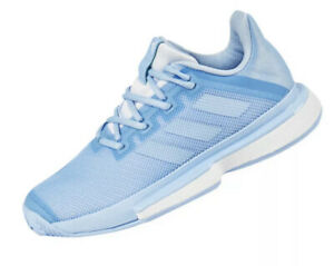 Adidas Womens SZ 7.5 Sole Match Bounce Tennis Shoes Blue Lace Up EE9561