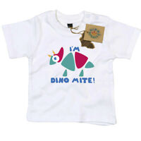 I'm Dinomite T Shirt Gift for Newborn Baby or Toddler Dino Smalls