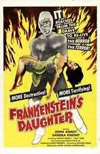 Frankensteins Hija Cartel 01 Letrero De Metal A4 12x8 Aluminio