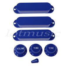 Darker Blue Set Switch Tip Single Coil Pickup Cover 1 volume 2 Tone Knobs