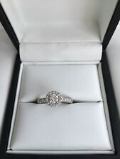 Leo Diamond 0.75 Carat Halo Ring - 18ct White Gold -Size K