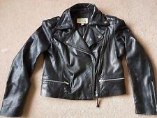 Ladies Mango Black Leather Jacket size M