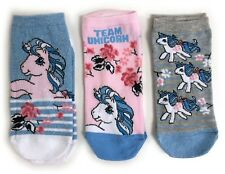 LADIES 3 MY LITTLE PONY SPARKLE SHOE LINERS SOCKS UK SIZE 4-8 EUR 37-42 US 6-10