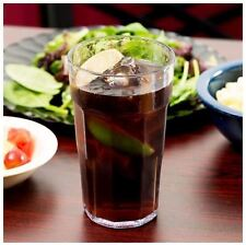 16 oz. Clear Plastic Drinking Glass Style Tumbler Set, Restaurant - 36 Ct. Case
