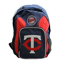More details for minnesota twins backpack, navy blue & red
